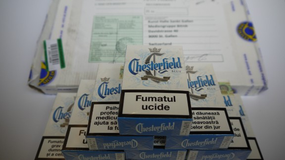 This carton of cigarettes was provided by a seller in Ukraine.