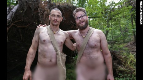 "Actor Seth Rogen (right, pictured here with James Franco) is often cited as an example of the ""dadbod."""