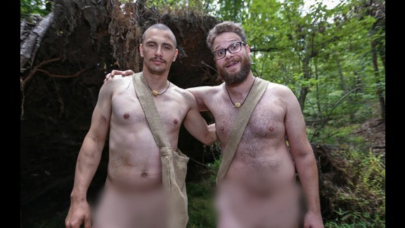 James Franco and Seth Rogen had to survive in the wild in the altogether in an episode of Discovery
