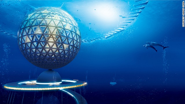 An artists rendering of one of Shinzu Corp's proposed undersea structures.