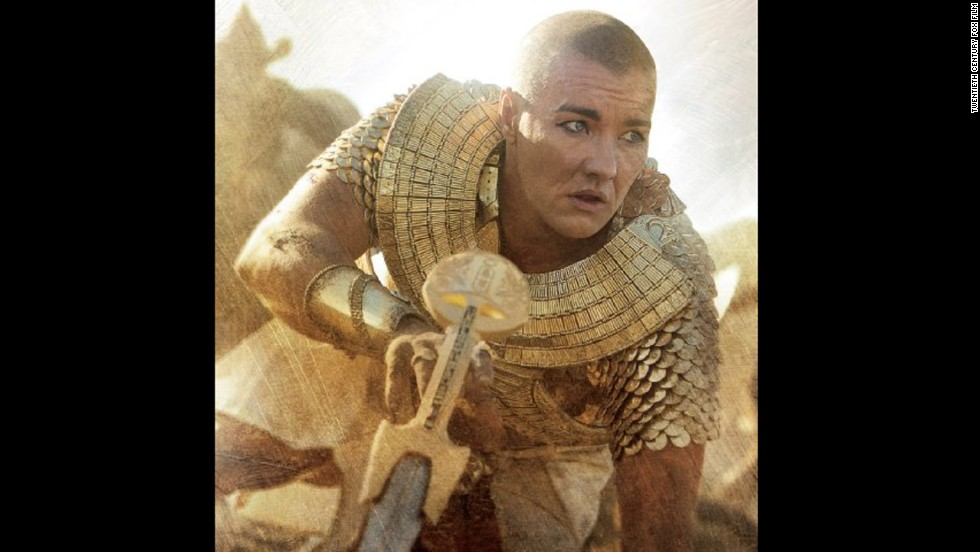 "Australian actor Joel Hedgerton plays the Egyptian pharaoh Ramses in the new movie ""Exodus."" Historians have debated the racial makeup of ancient Egyptians for 200 years, but in the new film they are almost all white."