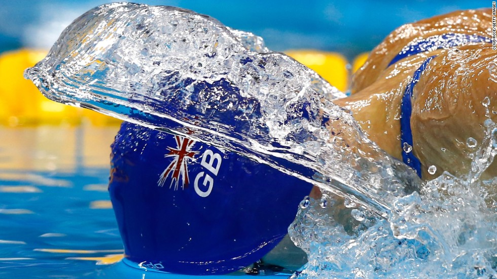 British swimmer Siobhan-Marie O'Connor competes in the 200-meter individual medley Saturday, December 6, at the FINA World Championships in Doha, Qatar. She took silver in the event, which was won by Hungary's Katinka Hosszu in world-record time.