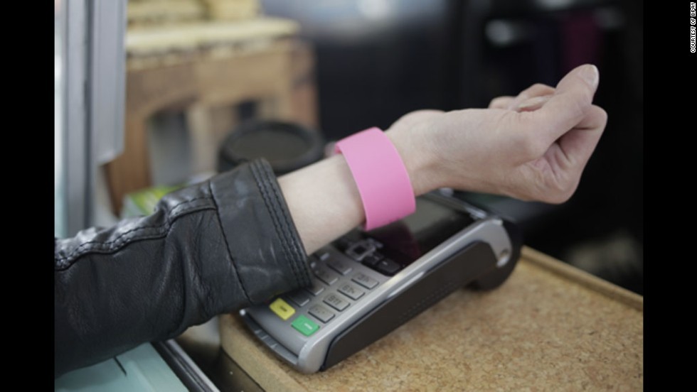 While identity authentication is becoming more secure, many companies are looking to streamline transactions. Barclaycard's bPay wristband does away with PIN numbers and credit cards, allowing wearers to make contactless payments for items under £20 ($30).