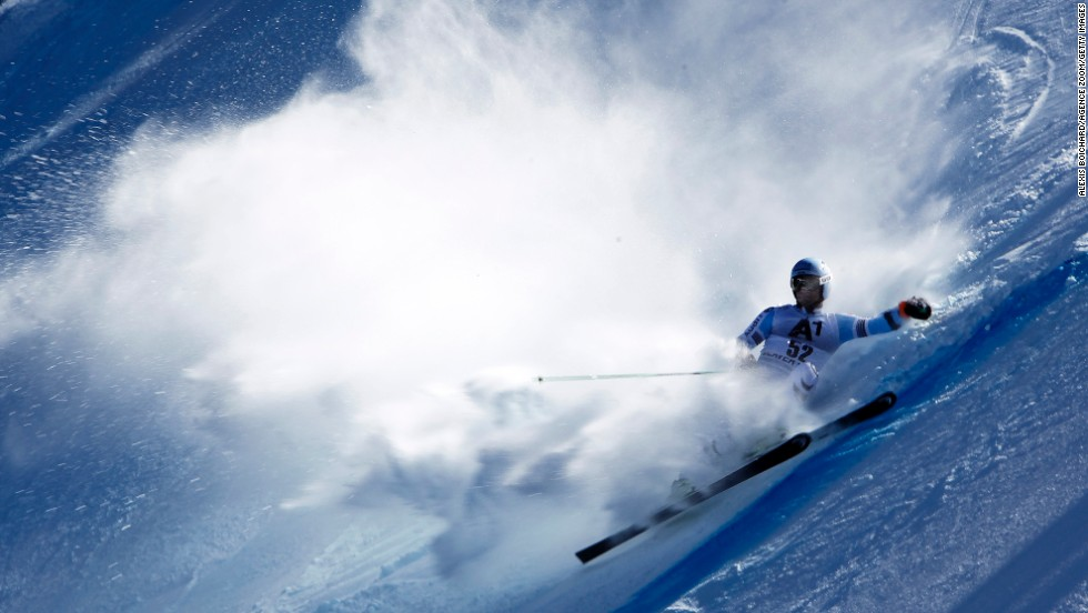German skier Dominik Schwaiger competes in the giant slalom during a World Cup event Sunday, December 7, in Beaver Creek, Colorado.
