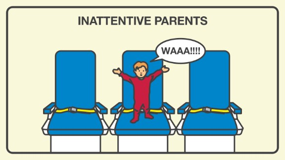 Parents who seem to forget they are flying with children dependent on them for snacks and entertainment are a nuisance to 59% of those surveyed.