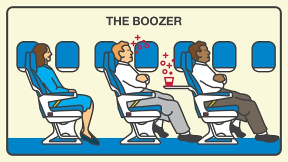 If you can't remember your flight, you might be a boozer. Boozers are unpleasant to 45% of surveyed fliers.