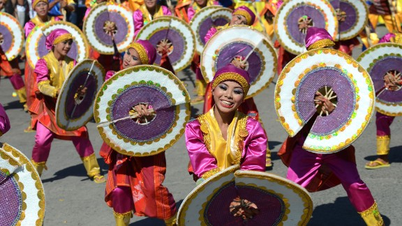 "Dancers in General Santos City, Philippines, celebrate the Kalilangan Festival in February 2013. The event shows ""the unity of every tribe here in our country,"" said the photographer, Eli Ritchie Tongo."