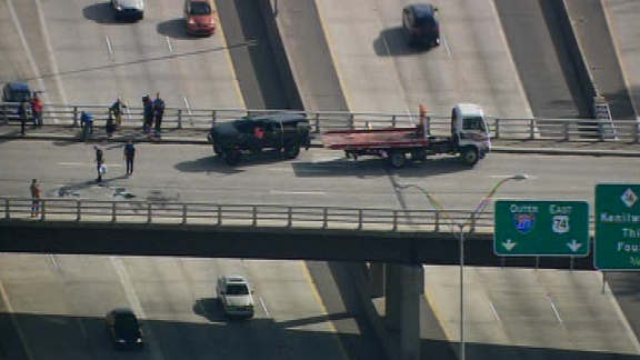 WBTV reported that the NFL's Cam Newton was placed on a stretcher and loaded onto an ambulance after a traffic accident.