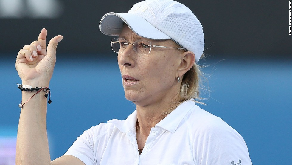 Navratilova, who holds the Open Era record for total singles and doubles titles in the men's and women's game, did not have the same success with Agnieszka Radwanska.