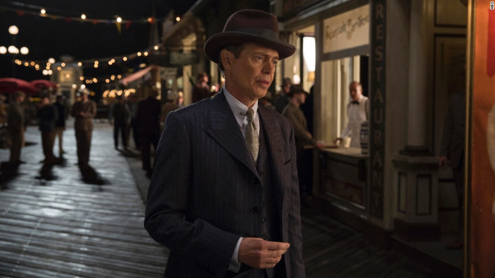 "<strong>Outstanding performance by a male actor in a drama series: Steve Buscemi</strong>, ""Boardwalk Empire"" (pictured); <strong>Peter Dinklage</strong>, ""Game of Thrones""; <strong>Woody Harrelson</strong>, ""True Detective""; <strong>Matthew McConaughey</strong>, ""True Detective""; <strong>Kevin Spacey</strong>, ""House of Cards."""