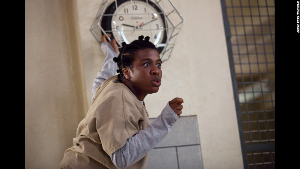 "<strong>Outstanding performance by a female actor in a comedy series: Uzo Aduba</strong>, ""Orange Is the New Black"" (pictured); <strong>Julie Bowen</strong>, ""Modern Family""; <strong>Edie Falco</strong>, ""Nurse Jackie""; <strong>Julia Louis-Dreyfus</strong>, ""Veep""; <strong>Amy Poehler</strong>, ""Parks and Recreation."""