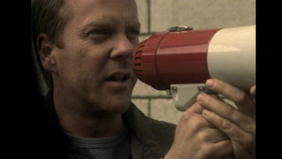 "In ""24"", Kiefer Sutherland plays Jack Bauer, an agent who will stop at nothing to protect the U.S. from terrorism."