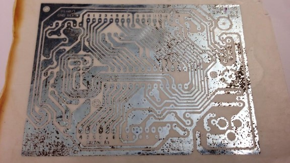 The circuits are printed from silver nanoparticle ink in an effort to make the machine as biodegradable as possible.