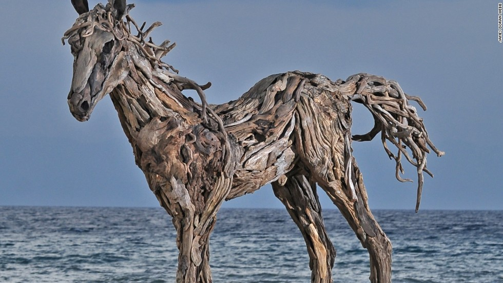 Doran-Webb sources the driftwood from a network of gatherers across the network of islands that make up The Philippines.