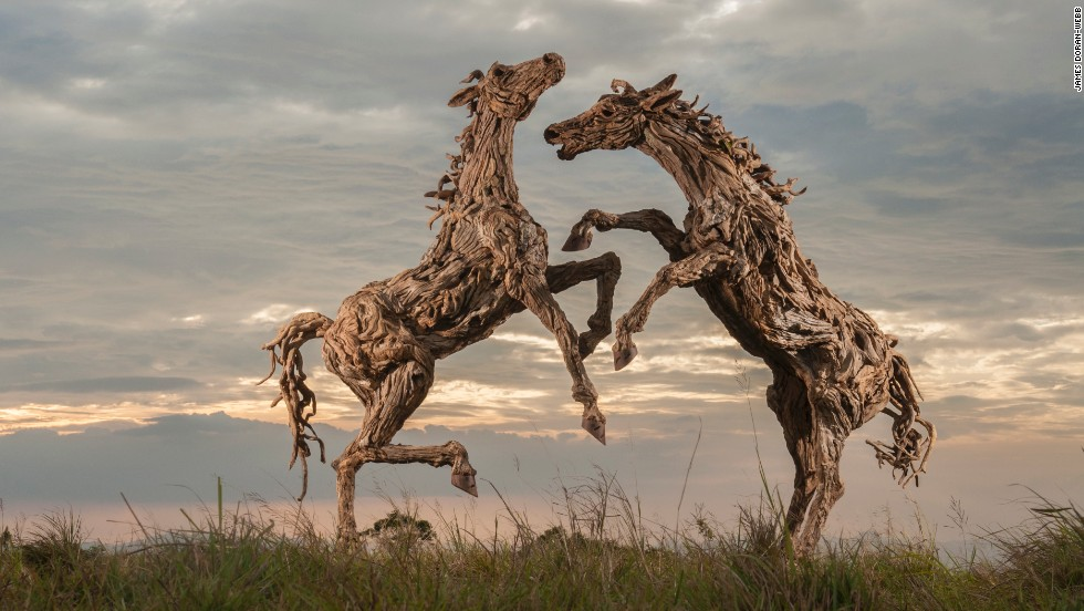 Artist James Doran-Webb brings a whole new twist to the Chinese Year of the Horse...
