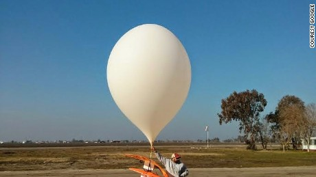 Early prototype of Google Loon balloon