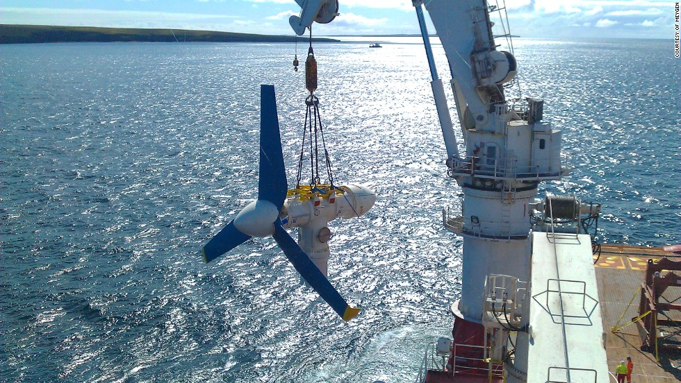 The company that is running the demonstration array of four turbines, Meygen, said the logistics infrastructure in Scotland for this type of renewable energy was excellent and that the region could soon benefit from a bonanza in tidal power.