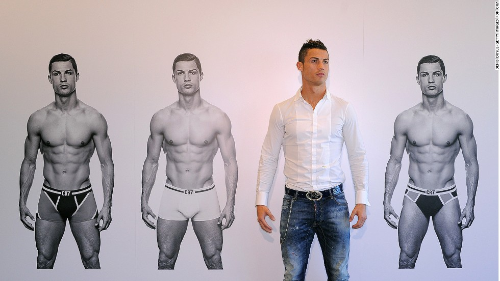 "Ronaldo's range appeals to ""football fans who aspire to his look and image,"" according to the CR7 collection's brand adviser Steve Martin."