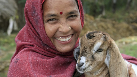 Heifer International and World Vision allow people to buy goats and other farm animals for families in need. Their catalogs also sell goods you can give to your loved ones, with the profits going to the nonprofits
