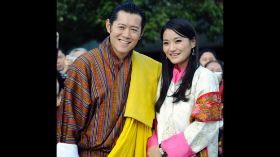 """Bhutan's King Jigme Khesar Namgyel Wangchuck, shown here with his wife, Queen Jetsun Pema, is known as the """"Dragon King."""" He became king of the South Asian country after his father abdicated in 2006."""