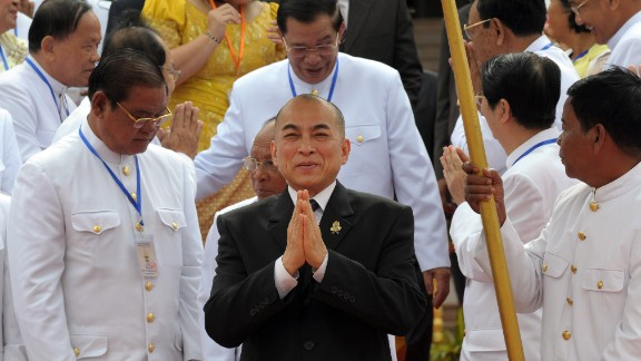Cambodia's King Norodom Sihamoni succeeded his father, who had retired, in 2004. In the years before taking the throne, the king served as a professor of classical dance and artistic director of a ballet company, among other positions, according to his website.