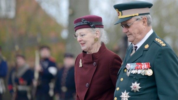 Queen Margrethe II of Denmark, seen here with her husband, Henrik, Prince Consort, succeeded her father on the throne in 1972.