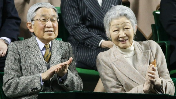 Japan's Emperor Akihito and Empress Michiko married in 1959. He became emperor in 1989.