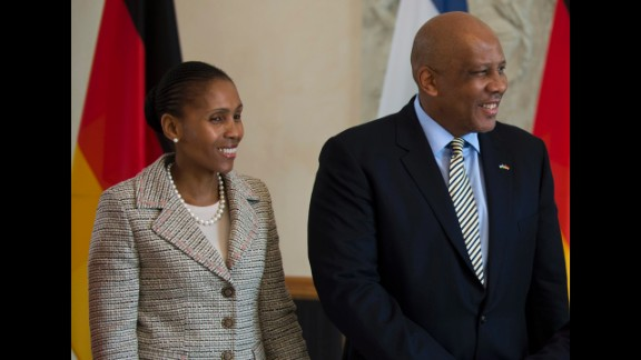 King Letsie III, seen here with Queen Masenate Mohato Seeiso, has twice become king of Lesotho -- first in 1990, when his father fled the country for five years, and again in 1996 after his father's death. Then-South African President Nelson Mandela spoke at the king's 1997 coronation.