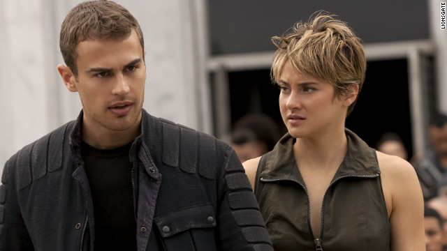 "Theo James and Shailene Woodley star in ""The Divergent Series:Insurgent."""