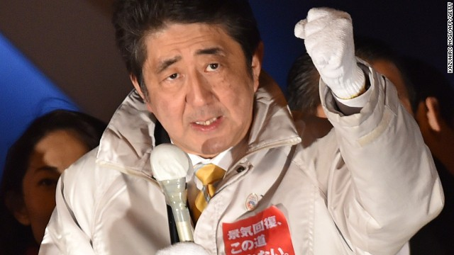 Japanese exit polls project Abe victory