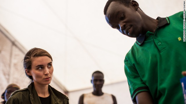 Rooney Mara visits South Sudan a year after war broke out in the world's newest nation.