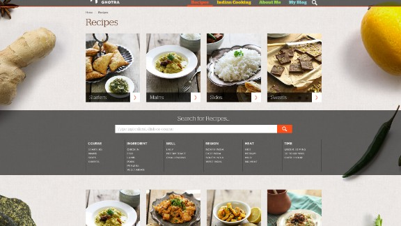 Her website features a range of recipes, which can be accessed easily during dinnertime with a smartphone or tablet