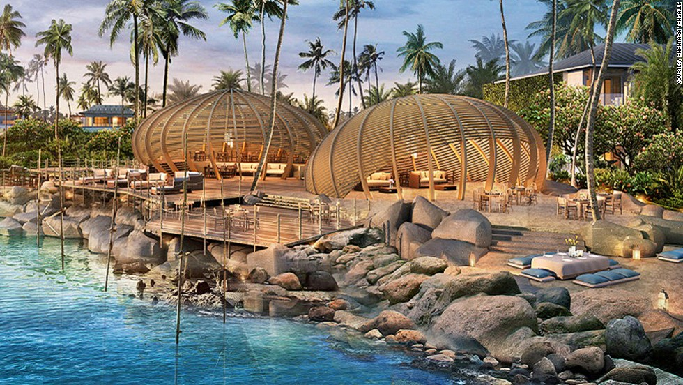 Anantara Tangalle Resort and Spa is located in Sri Lanka's beach town of Tangalle. Its design is inspired by traditional Sri Lankan architecture.