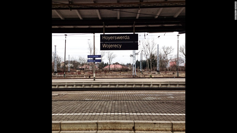 A train station in Hoyerswerda. When Freeman arrived last year, its population had dwindled to 35,000.
