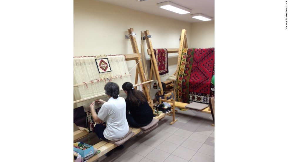 Only a handful of women still craft these detailed rugs and it is feared that these carpets will soon face extinction.