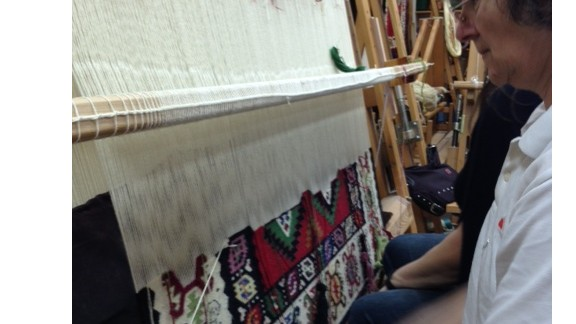 """""""We were born on carpets and we grew up in homes filled with Pirot carpets"""" says Slavica Ciric, a Pirot carpet weaver. """"We realized about ten years ago that there is a danger that Pirot carpet weaving could soon disappear"""" she adds."""