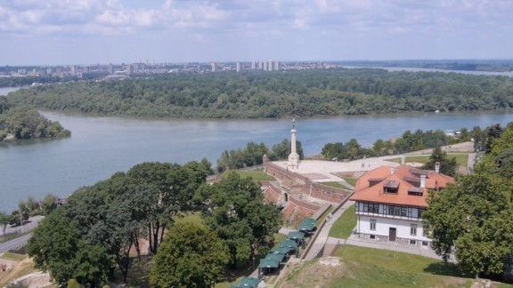 "Belgrade, or Beograd, which means ""white fortress,"" grew up around a centuries-old fortress on the Kalemegdan headland overlooking the point where the Danube and Sava rivers meet."