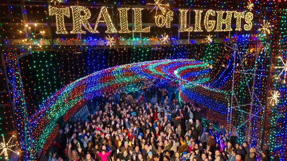 Zilker Park (Austin, Texas): It takes 15,000 hours and 1,500 volunteers to put together the Trail of Lights in Austin, Texas. The 2.1-mile walking circuit features more than 800 lighted trees.