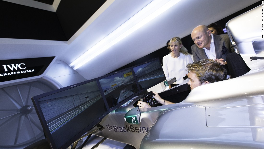 Rosberg still likes to spend hours in the Mercedes simulator -- unlike teammate and reigning world champion Hamilton.
