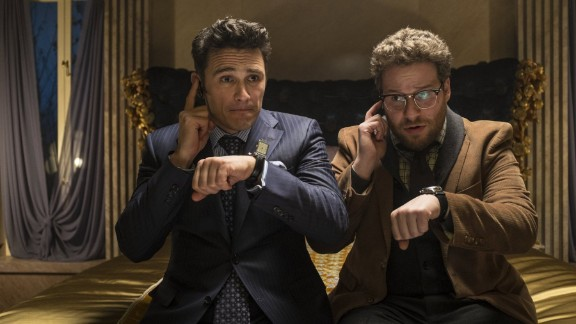"December 16 -- The New York premiere of ""The Interview"" was canceled after ""The Guardians of Peace"" posted a threat against moviegoers. The message said: ""We will clearly show it to you at the very time and places"