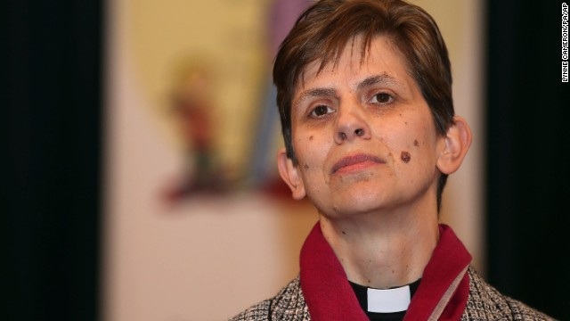 The Church of England announces the Rev. Libby Lane as its first woman bishop Wednesday in Stockport, England.