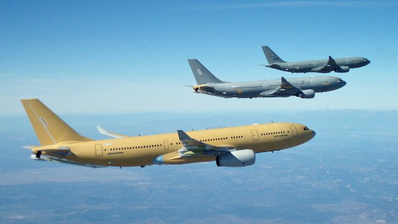 Airbus' A330 MRTT (multi-role tanker transport) is in service in Britain and Australia and has been ordered by several other global air forces.