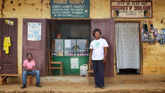 HONCO Honey Cooperative Bamenda, pictured, is an affiliated organization run by Caroline Ngum, who was also trained by Alan Morely over 15 years ago.   To see more of Griffith's work, click here.