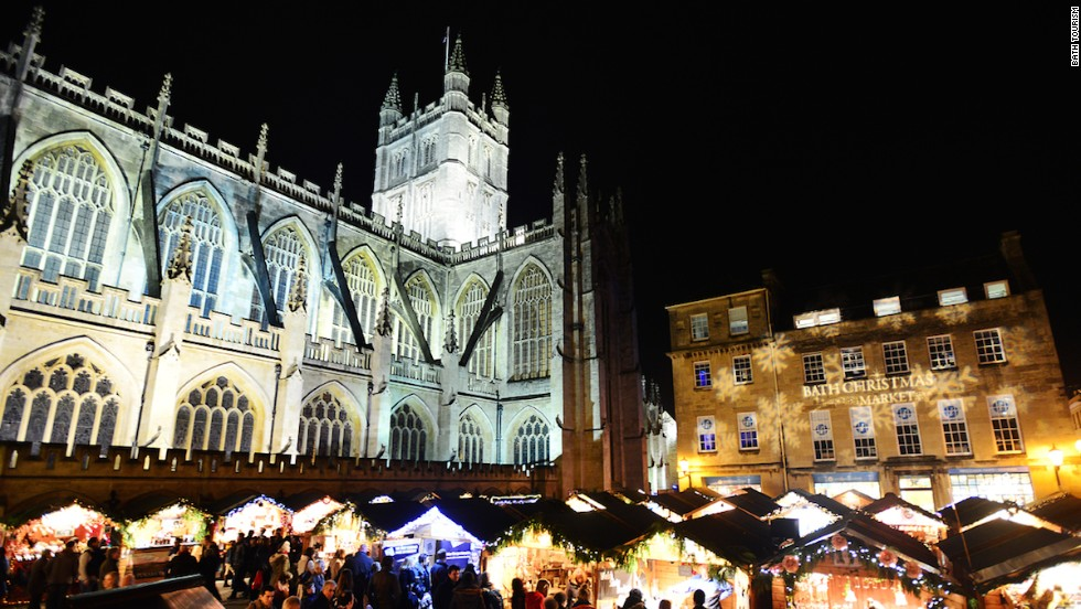 A seasonal favorite, the  Bath Christmas Market has more than 170 wooden chalets selling distinctively British handmade crafts in a quaint Georgian setting.