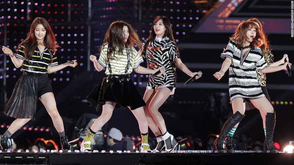 South Korean pop group Four Minute perform on stage during the 20th Dream Concert on June 7, 2014 in Seoul, South Korea. An anti-North Korea radio show by the South had opened with a pop song from the quartet.