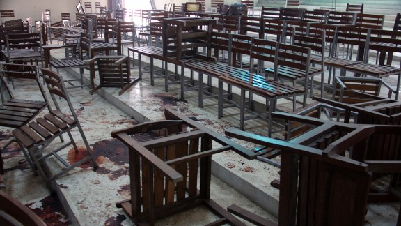 On a typical day, the school is home to about 1,100 students and staff, most of them sons and daughters of army personnel from around Peshawar.