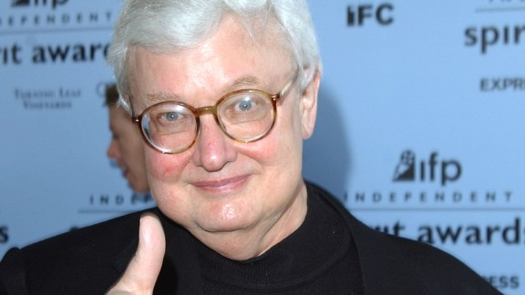 SANTA MONICA, CA - MARCH 22: Film critic Roger Ebert gives a thumbs-up at the 2003 IFP Independent Spirit Awards on March 22, 2003 in Santa Monica, California. (Photo by Jon Kopaloff/Getty Images)