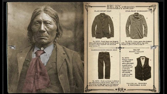 "Ralph Lauren's holiday ad campaign for its RRL line was criticized for its ""assimilation aesthetic"" that featured what appeared to be antique photos of stoic Native Americans dressed in Western attire. The design house later apologized and took down the ads."