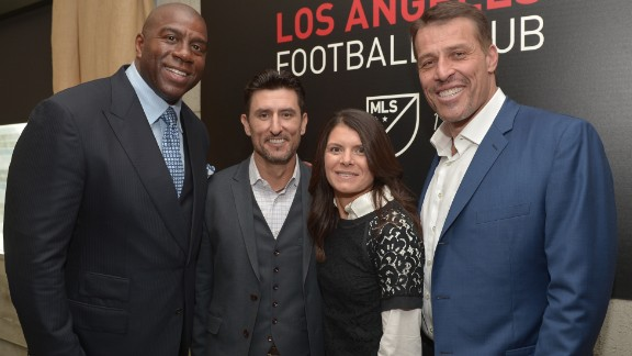 "She is now part of an all-star ownership team at Los Angeles Football Club. One of her fellow minority owners is NBA legend ""Magic"" Johnson.  ."