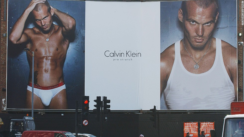 Former Arsenal player Freddie Ljungberg of Arsenal was one of the first footballers to stop traffic when he posed for Calvin Klein in 2003.